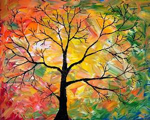 Fall Tree Painting by Cevin Cox