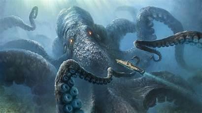 Kraken Sea Desktop Wallpapers Monster Creatures Wallpaperaccess