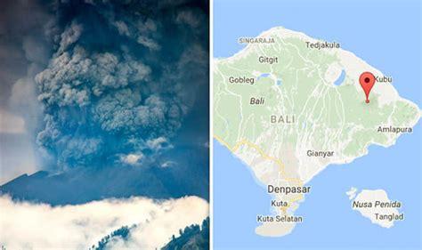 bali volcano map   mount agung volcano erupts