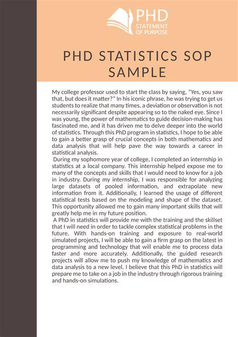 check   phd statistics sop sample   link