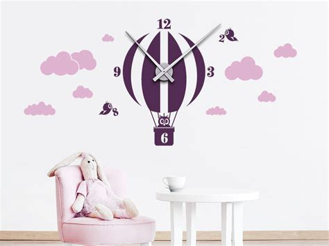 Wandtattoo Uhr Kinderzimmer by Wandtattoo Uhr Hei 223 Luftballon Wandtattoo De