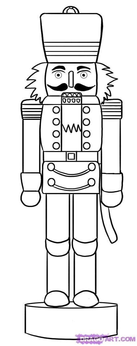 christmas soldier steps to drawyard sign how to draw a nutcracker step by step stuff seasonal free drawing tutorial