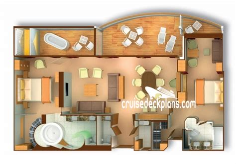 1 bedroom floor plans seabourn sojourn deck plans diagrams pictures