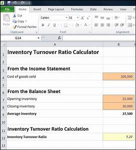 Inventory Turnover Ratio Calculator | Double Entry Bookkeeping