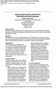 Sample Advertising Proposal Pdf Why Academics Have A Hard Time Writing Good Grant