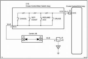 Toyota Corolla Repair Manual  Circuit Description - Cruise Control Switch Circuit