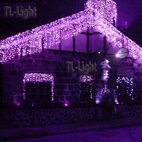 ft holiday living  purple led bulb icicle indoor