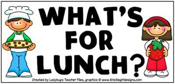 Image result for lunch menu school clip art