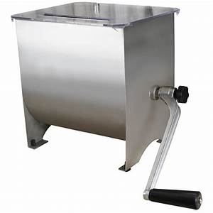 Weston Stainless Steel Manual Meat Mixer  20 Lb