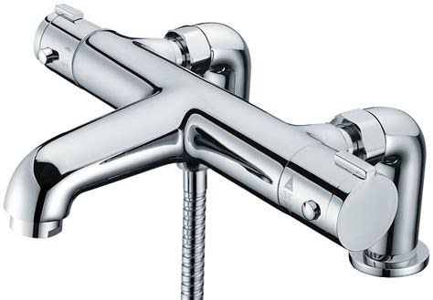 Thermostatic Bath Taps With Shower Mixer by Libra Deck Mounted Thermostatic Bath Shower Mixer Tap