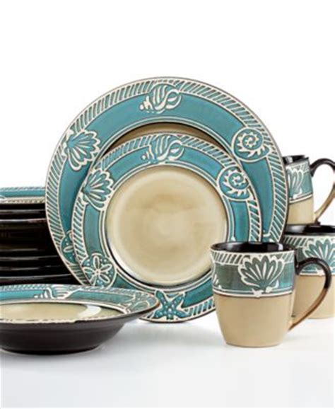 Thomson Pottery Cape Cod 16pc Set, Service For 4