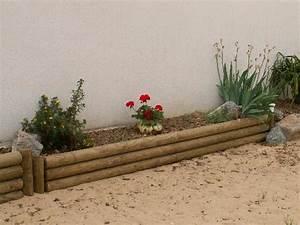 Rondin De Bois Pour Jardin : bordure rondins ~ Edinachiropracticcenter.com Idées de Décoration