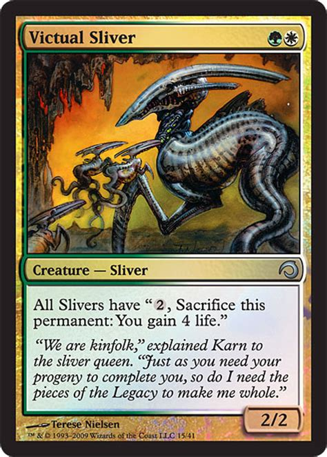 mtg sliver deck slivers packaging and 5 cards the rumor mill magic