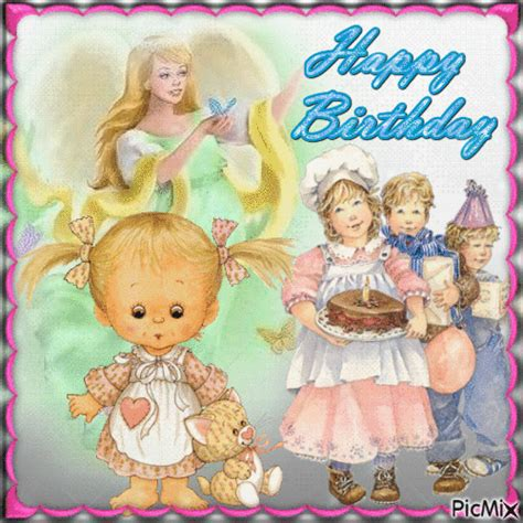cute vintage happy birthday animation pictures