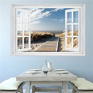 Fototapete Fenster Aussicht : fototapete beach window 2t1 39 127cm x 183cm fenster ~ Michelbontemps.com Haus und Dekorationen