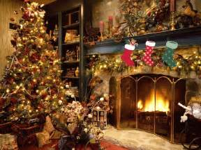 christmas tree with presents and fireplace with stockings image by agcguru info