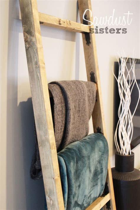 diy blanket ladder   towels  sisters