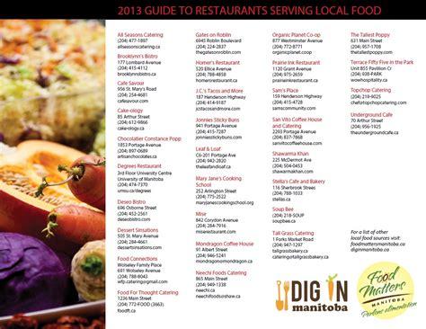 resto bureau local restaurant catering guide food matters manitoba