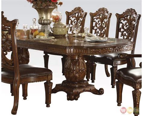 vendome traditional formal double pedestal   dining