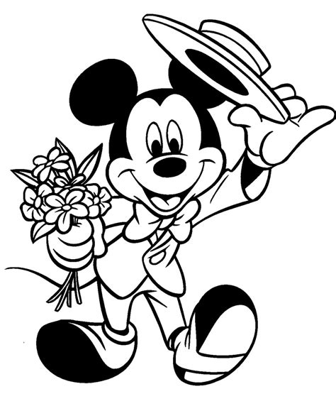 mickey mouse coloring disney coloring pages