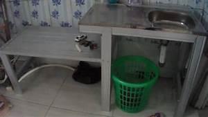Merakit Tempat Cuci Piring Dari Baja Ringan Yang Praktis