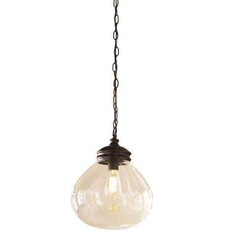 pendant lighting lowes shop allen roth bristow 12 in rubbed bronze vintage