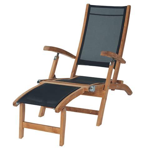 chaise en bois chaise longue de jardin bois teck maisons du