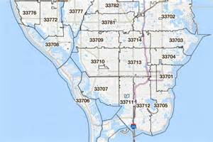 St. Petersburg FL Zip Code Map