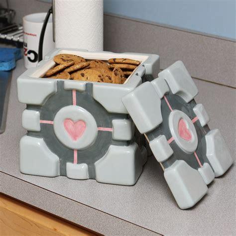 portal companion cube cookie jar   threaten