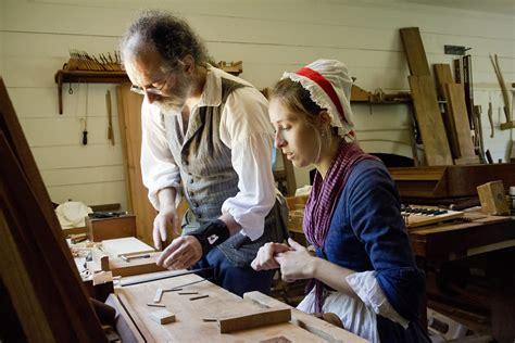colonial williamsburg virginia va cabinet shop cabinetmak