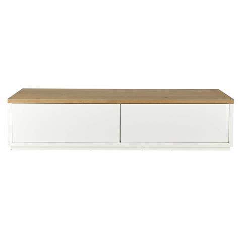 meuble tv en ch 234 ne massif blanc l 180 cm austral maisons