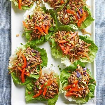 There's a pound of ground beef in the fridge, and now the choice is yours: Diabetic Recipes | Healthy ground beef, Beef lettuce wraps ...