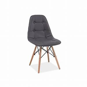 Chaise Scandinave Simili Cuir : chaise scandinave dsw axel aspect boutonn en simili cuir ~ Teatrodelosmanantiales.com Idées de Décoration