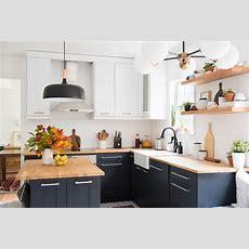Kitchen Revamp  Twotoned Modern Kitchen  Place Of My Taste