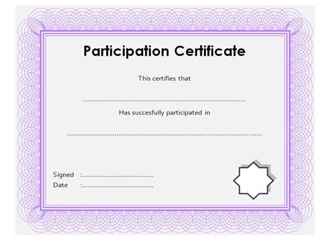 Template For Certificate Of Participation In Workshop by Participation Certificate Template 8 Ss Professional And