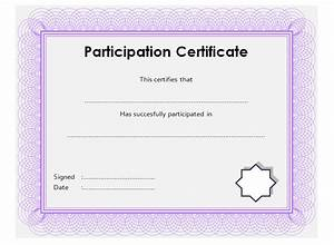 participation certificate template 8 ss professional and With training participation certificate template