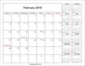 february 2018 calendar with holidays canada calendar