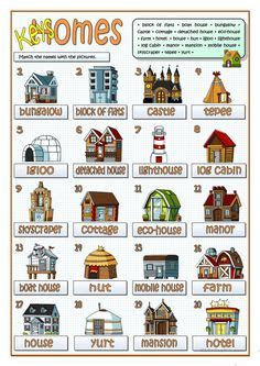 english teaching worksheets types  houses houses