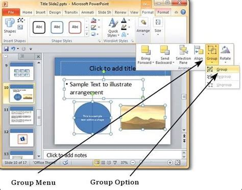 powerpoint objects ungroup shapes object apply changes common step want