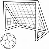 Soccer Ball Coloring Drawing Draw Goal Football Balls Drawings Template Clipart Printable Colouring Field Cliparts Library Printables Sport Clip Sheets sketch template