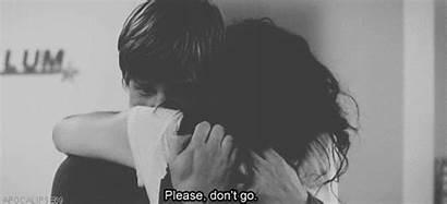 Sad Hugging Couple Gifs Hug Tight Him
