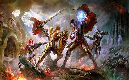 Wallpapers Anime Magic Gamer Fight Warriors Gaming