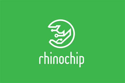 digirhino technology rhino logo design logo cowboy