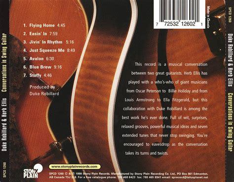 swing guitar duke robillard herb ellis conversations in swing
