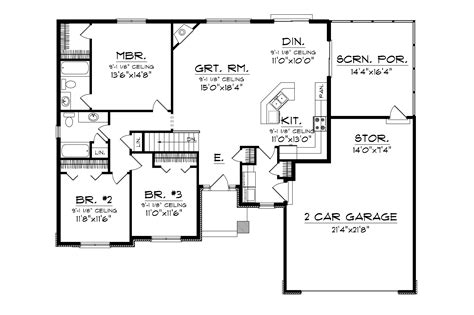 Higgens Traditional Ranch Home Plan 051D 0674 House