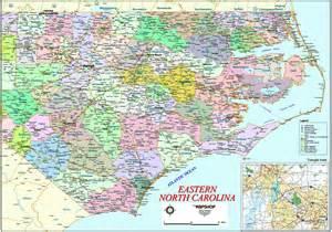 Eastern NC Map North Carolina