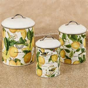yellow kitchen canister set lemon basil steel kitchen canister set
