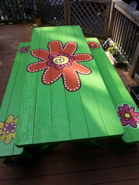 ideas  picnic tables  pinterest diy