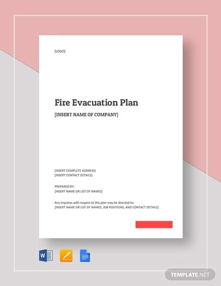 11 emergency evacuation plan templates sle exle word docs apple pages format