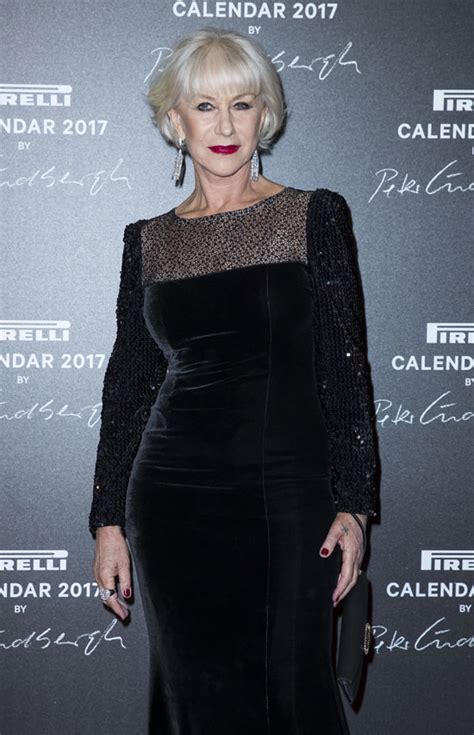 Helen Mirren in Jacques Azagury at the Pirelli 2017 ...